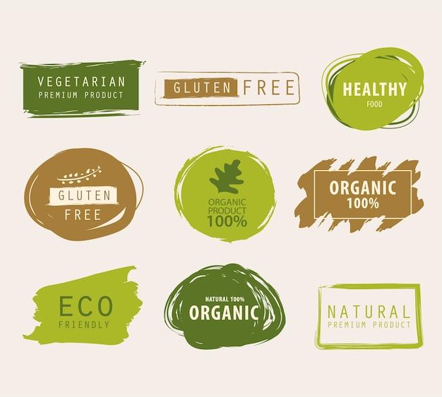 Bandera verde natural y orgánica