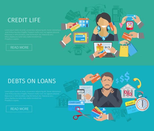 Bandera de la vida de crédito