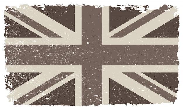Bandera vintage del reino unido