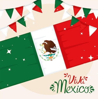 Bandera viva mexico