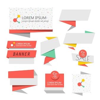 Banderas abstractas del vector. plantilla de banners de venta