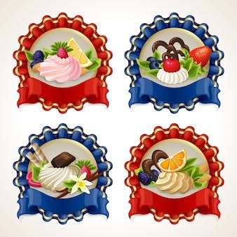 Banderas de la cinta de los dulces