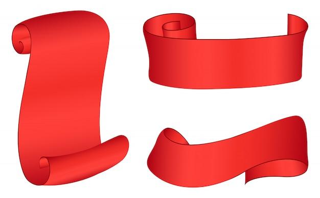 Banderas de cinta roja