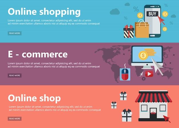 Banderas de las compras en línea