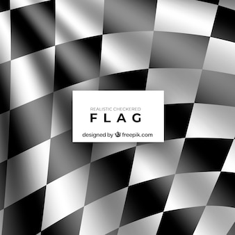 Banderas a cuadros de carreras con diseño realista