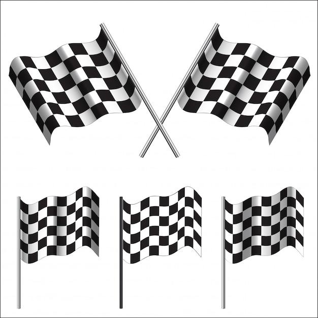Banderas a cuadros de carreras