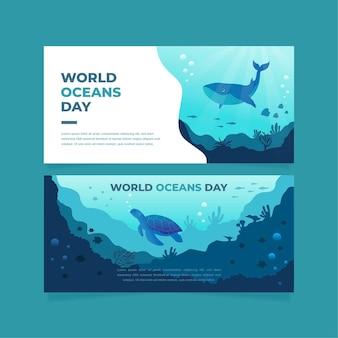 Banderas del día mundial de los océanos