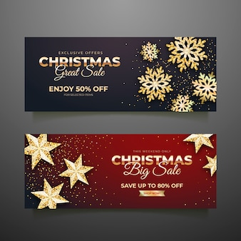 Banderas doradas de venta de navidad