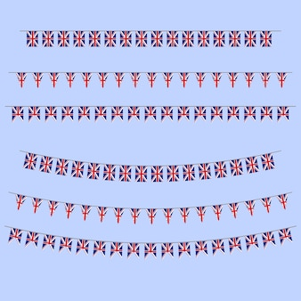Banderas del empavesado de inglaterra