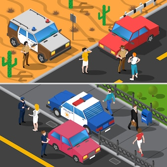 Banderas de la gente de la policía