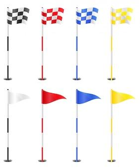Banderas de golf.