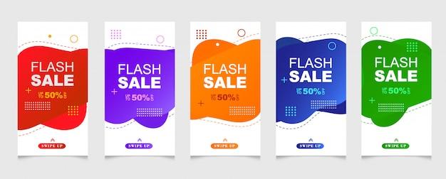 Banderas móviles dinámicas modernas y fluidas para la venta.
