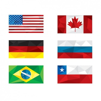 Banderas de naciones poligonales