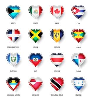 Banderas de países de américa del norte