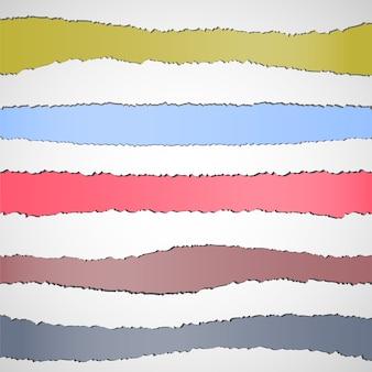 Banderas de papel rasgado