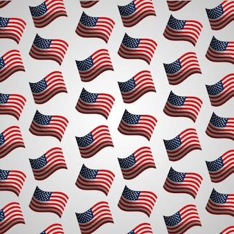 Banderas patrón de día nacional de la independencia americana