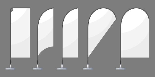 Banderas de playa blanca