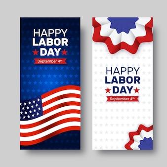 Banderas realistas del día del trabajo