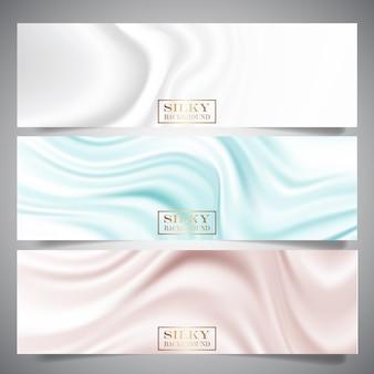 Banderas de textura de seda