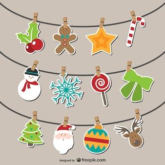 Banderines atísticos de navidad