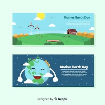 Banenrs del día de la madre tierra