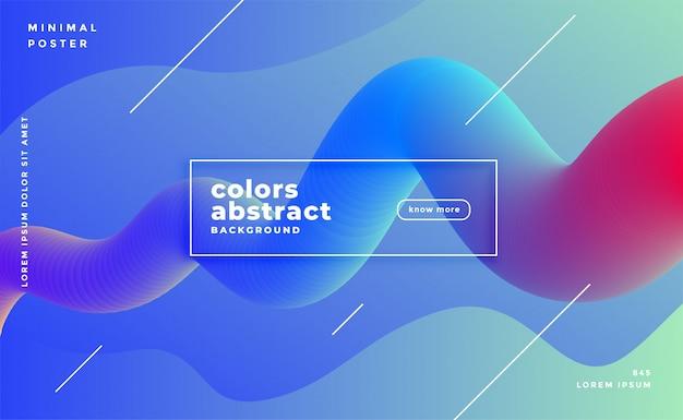 Baner de movimiento de bucle fluido fluido vibrante abstracto