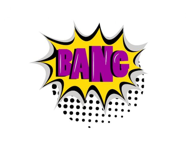 Bang boom texto cómico