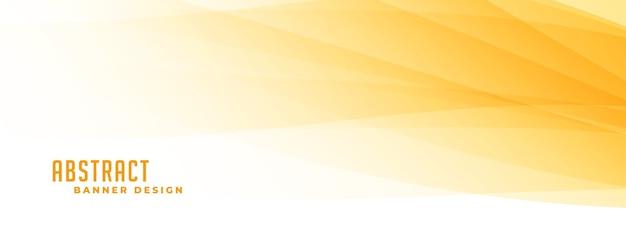 Banner abstracto amarillo y blanco