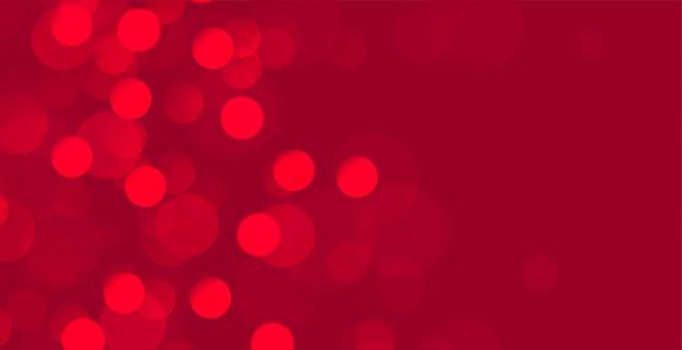 Banner abstracto bokeh rojo con espacio de texto