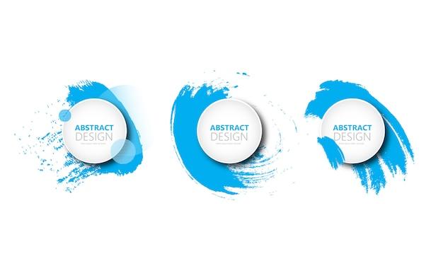 Banner abstracto de círculo