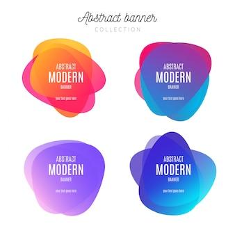 Banner abstracto colección colorida