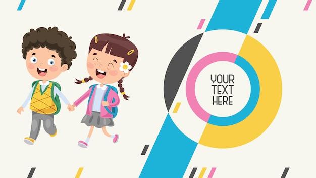 Banner abstracto colorido para educación infantil
