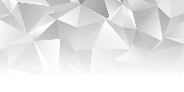 Banner abstracto con un diseño monótono de baja poli