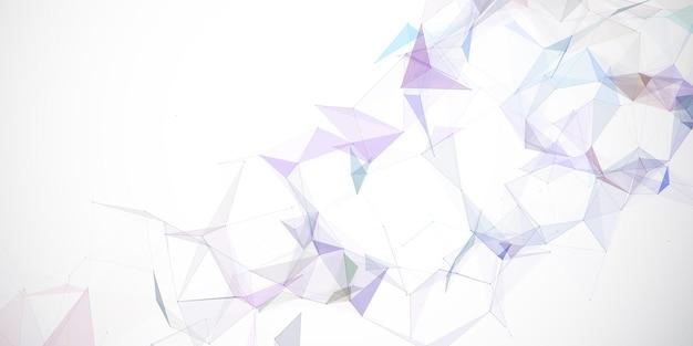 Banner abstracto con un diseño de plexo de baja poli