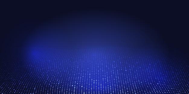 Banner abstracto con diseño de puntos de semitono