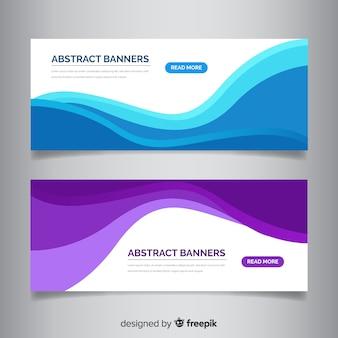 Banner abstracto formas onduladas