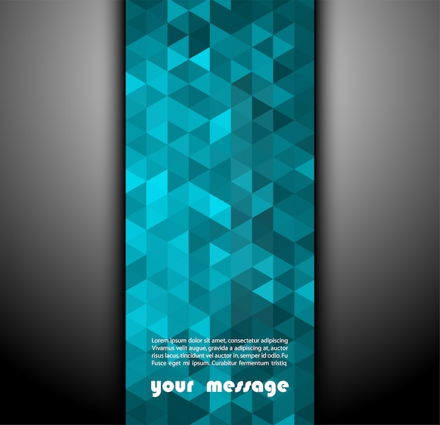 Banner abstracto con formas triangulares