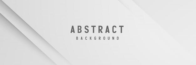 Banner abstracto geométrico fondo blanco