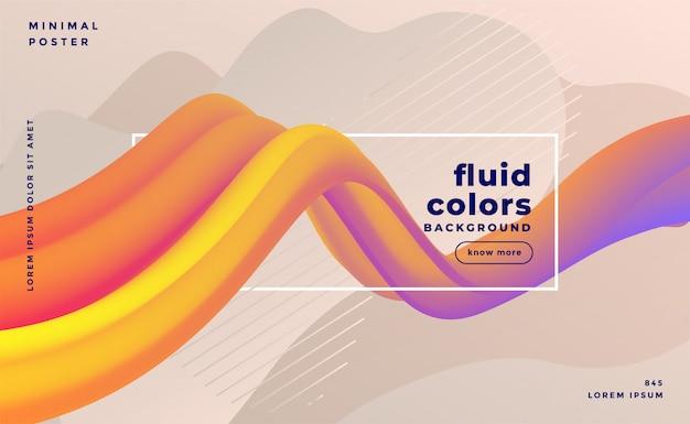 Banner abstracto hermoso ola colorido 3d