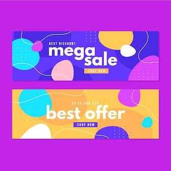 Banner abstracto de mega venta
