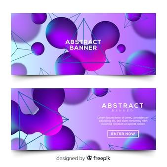 Banner abstracto moderno