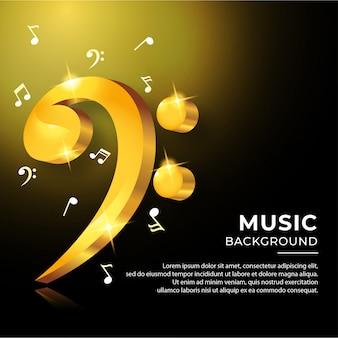 Banner de acordes musicales coloridos notas musicales
