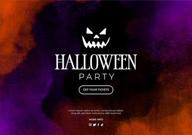 Banner de acuarela para fiesta de halloween