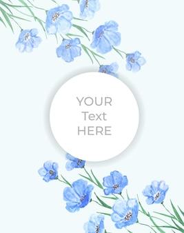 Banner de acuarela floral