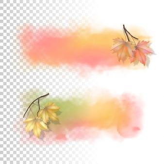 Banner de acuarela de otoño