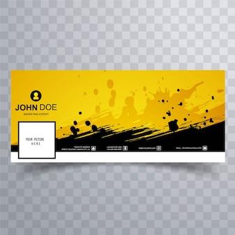 Banner amarillo para la timeline de facebook