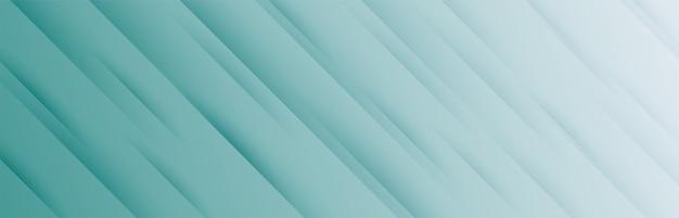 Banner ancho elegante con patrón de rayas diagonales