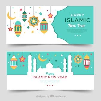 Banner de año nuevo islámico