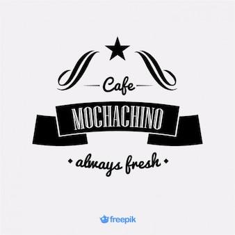 Banner antiguo sobre el café mochachino