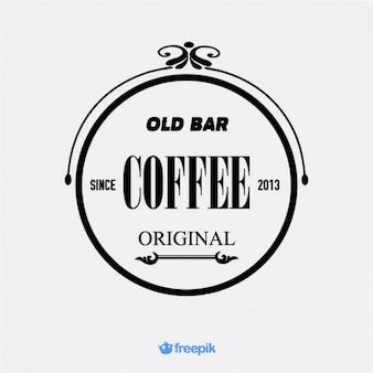 Banner antiguo de viejo café bar